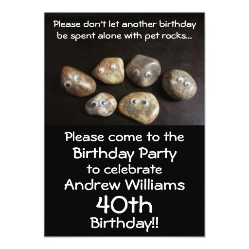 The Birthday Party Plea Invitation