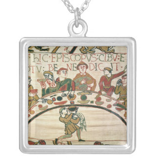The bishop blesses the food and drink silver plated necklace