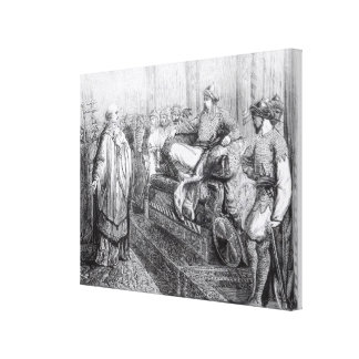 The Bishop of Salisbury before Saladin Canvas Print