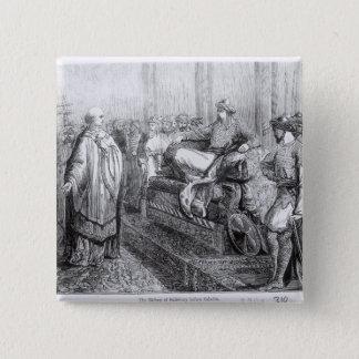 The Bishop of Salisbury before Saladin Pinback Button