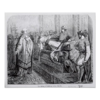 The Bishop of Salisbury before Saladin Poster