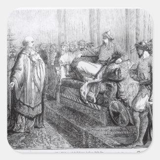 The Bishop of Salisbury before Saladin Square Sticker
