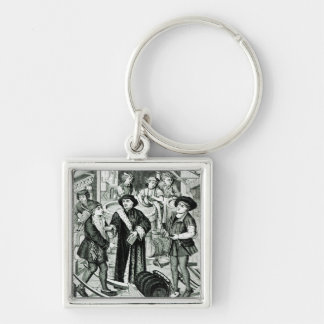 The Bishop of Tournai receiving the Tithe of Beer Keychain