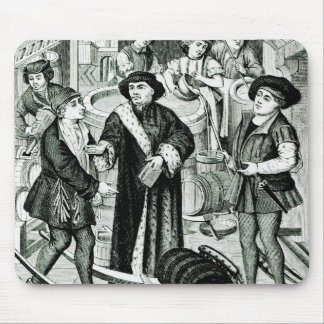 The Bishop of Tournai receiving the Tithe of Beer Mouse Pad