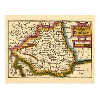 The Bishopprick of Durham County Map, England Postcard