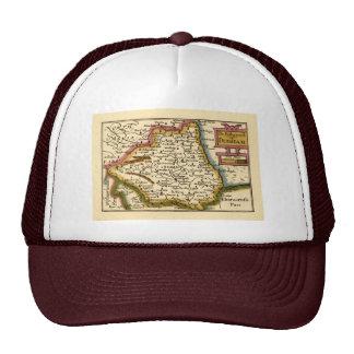 The Bishopprick of Durham County Map, England Trucker Hat