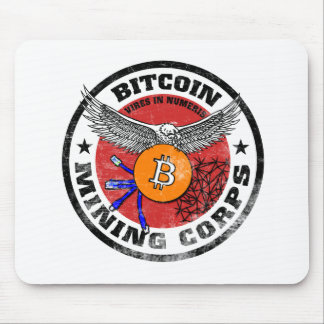 The Bitcoin Mining Corps - Gritty Version Mouse Pad