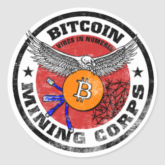 The Bitcoin Mining Corps - Gritty Version Stickers