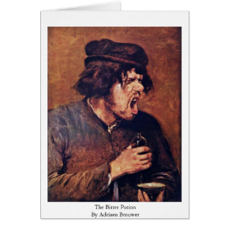 The Bitter Potion By Adriaen Brouwer Greeting Card