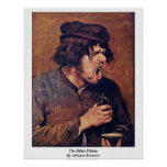 The Bitter Potion By Adriaen Brouwer Print