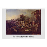 The Bivouac By Antoine Watteau Posters