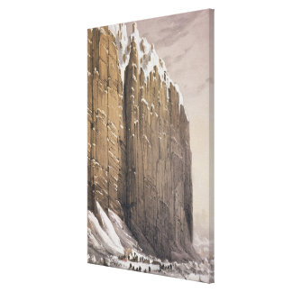 The Bivouac, Cape Seppings, from 'Ten Coloured Vie Canvas Print