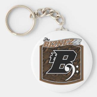 The Biznezzz Basic Round Button Keychain