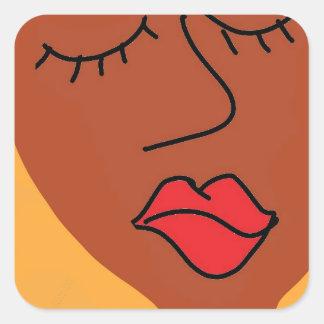 the bla bla lady square sticker