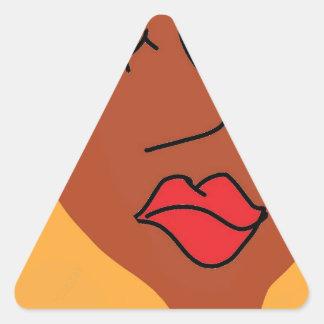 the bla bla lady triangle sticker