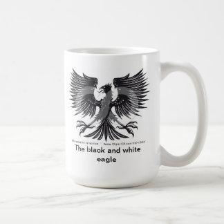 The black and white eagle classic white coffee mug
