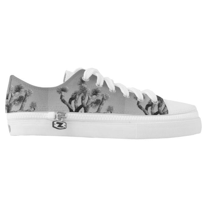 The Black And White Joshua Tree Printed Shoes