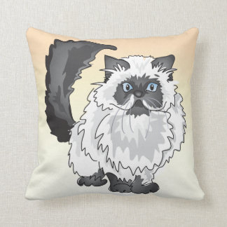 The Black and White Persian Cat Pillow