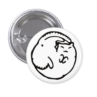 The black and white roundly the ya it is densely pinback button