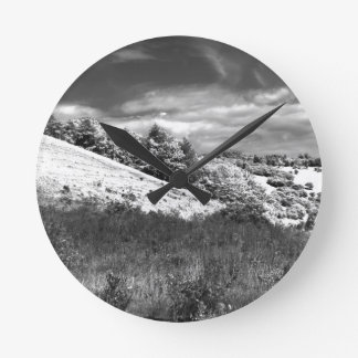 The black and white valley wallclock