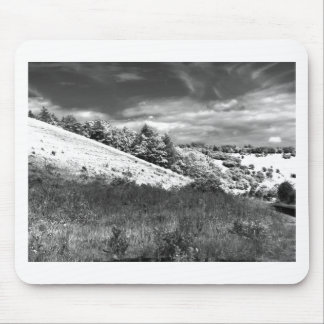 The black and white valley mouse pad