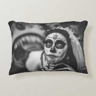 The black and white woman accent pillow