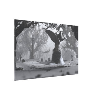The Black Angel (Winter) Canvas Print