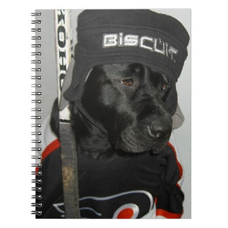 The Black Biscuit in a Flyers Jersey - Notebook