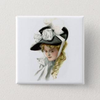 The Black Bonnet Button