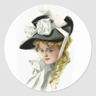 The Black Bonnet Round Stickers