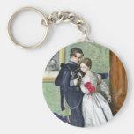 """""""The Black Brunswicker"""" by Millais Basic Round Button Keychain"""