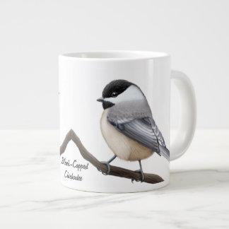The Black Capped Chickadee Birds Mug 20 Oz Large Ceramic Coffee Mug