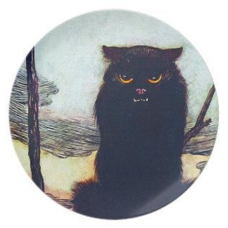 The Black Cat Dinner Plate