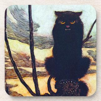 The Black Cat Drink Coaster