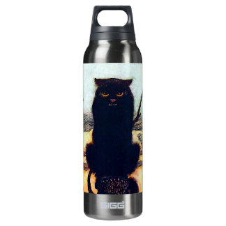 The Black Cat Insulated Water Bottle