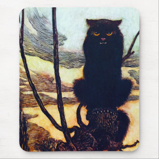 The Black Cat Mouse Pad