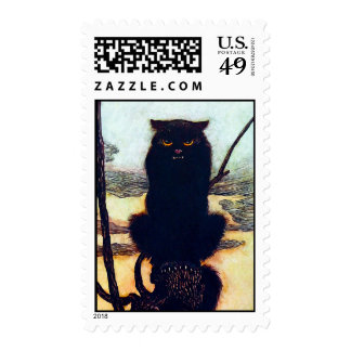 The Black Cat Stamp