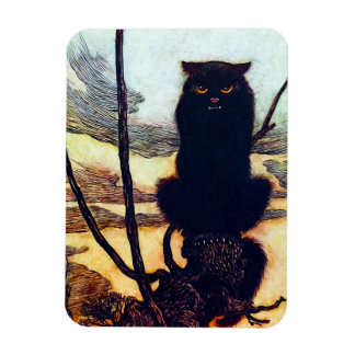 The Black Cat Rectangular Photo Magnet