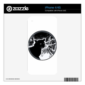 The Black Cat Skin For The iPhone 4