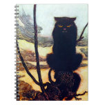 The Black Cat Spiral Notebook