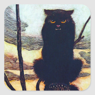 The Black Cat Square Sticker
