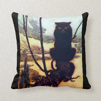 The Black Cat Throw Pillow