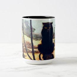 The Black Cat Two-Tone Coffee Mug