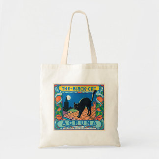 The Black Cat Vintage Orange Label Tote Bag
