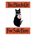 The Black Cat - Vintage Poster Postcard