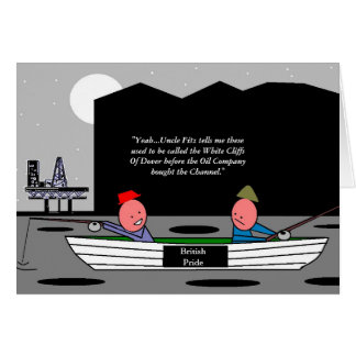 The Black Cliffs Of Dover Greeting Card