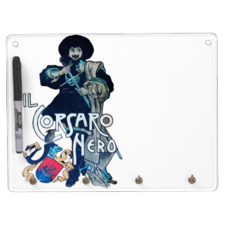THE BLACK CORSAIR DRY ERASE BOARD WITH KEYCHAIN HOLDER