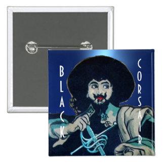 THE BLACK CORSAIR gem blue Button