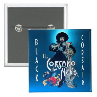 THE BLACK CORSAIR gem blue Pinback Button