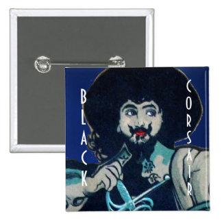 THE BLACK CORSAIR gem dark blue Pinback Button
